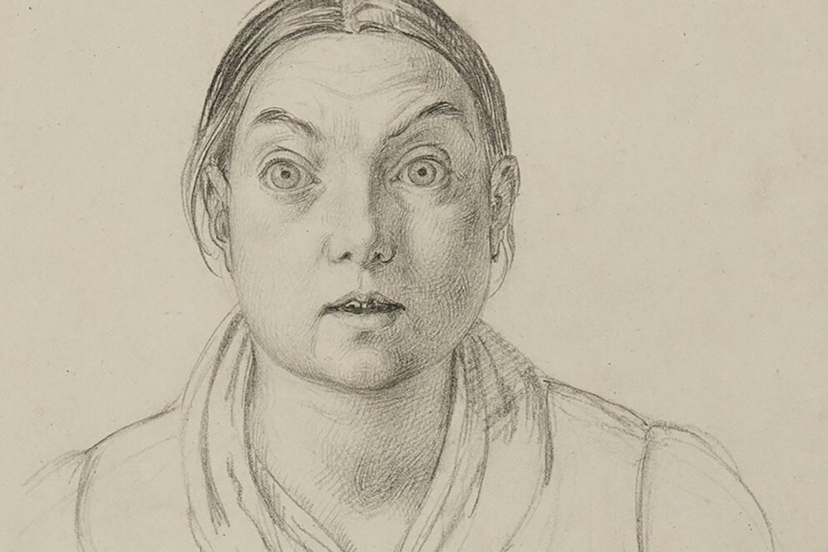 Carl Julius Milde - Bildnis einer unbekannten Frau_web