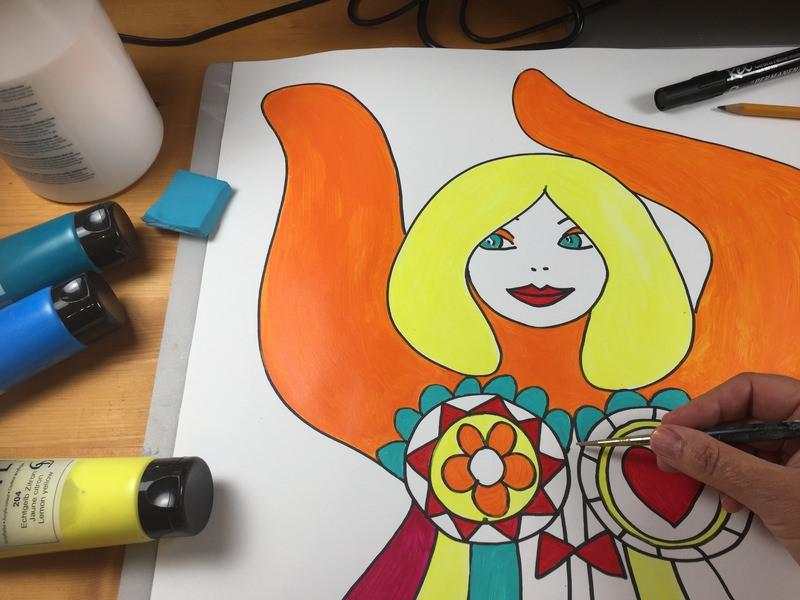 Online Workshop Nana malen für Frauen 1